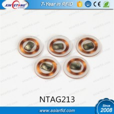 13.56MHZ Small Clear RFID NFC Tags Round NTAG213
