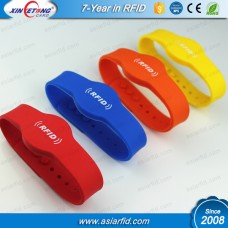 Adjustable RFID Silicone Bracelet MF Classic 1K S50/NTAG213/MF Ultralight