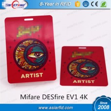 PVC Contactless Smart Cards MF Desfire EV1 4K