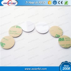 13.56MHZ PVC Blank NFC Disc Tags NTAG213 Adhesive