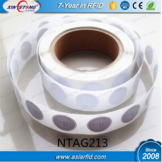 25MM Blank Roll NFC Sticker NTAG213