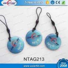 13.56MHZ Custom shape NTAG213 NFC Epoxy Tag