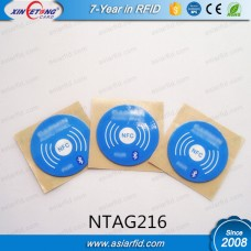 13.56MHZ Round HF RFID Disc TAGS 25MM NTAG216