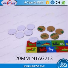Small 20MM NFC On Metal Disc Tag NTAG213